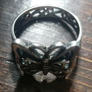 Vintage Sterling Silver Butterfly Ring by Avon